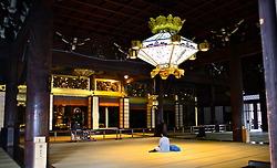 Inside Nishi Hongwanji Temple