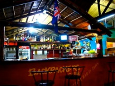 The hostel's bar