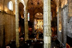 Inside the Church of Santa Maria