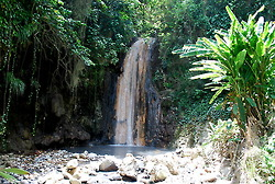 The Diamond Waterfall, located in the Diamond Estate Botanical Gardens