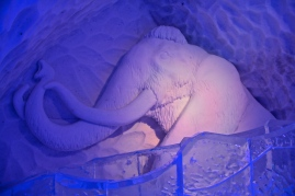 The Mammoth guards the ice slide