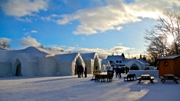 The grounds at the Hotel de Glace.