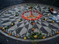 Strawberry Fields, created in memory of John Lennon
