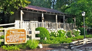 Replica of her Tennessee Mountain Home