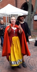"Bridget Bishop heading to her trial in ""Cry Innnocent"""