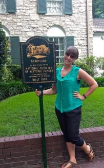 Standing outside Graceland
