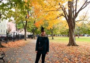 Walking through Salem Commons