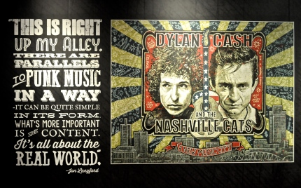 Bob Dylan & Johnny Cash exhibit