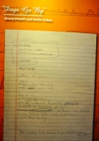 "Hand written lyrics to Keith Urban's 'Days go by"""