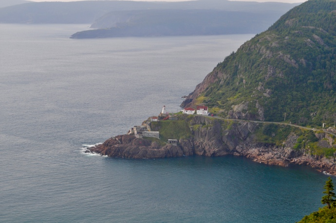 Looking down at Fort Amherst