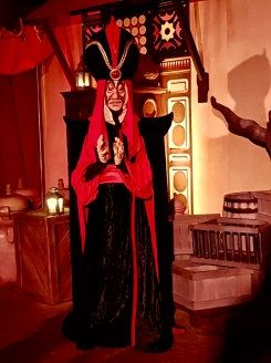 Jafar was out with the other villains for Halloween
