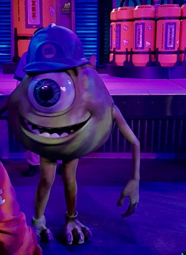 Mike Wazowski dancing at the Monstrous Scream-O-Ween Ball