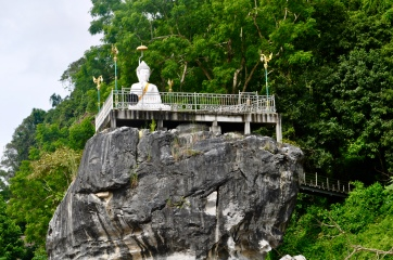 One of the Buddha statues along the river