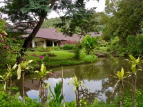 Such beautiful grounds at the Maekok River Village Resort
