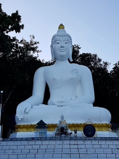 White Buddha in Wat Thaton.