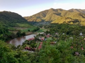 Looking down over Ban Thaton and the Mae Kok River
