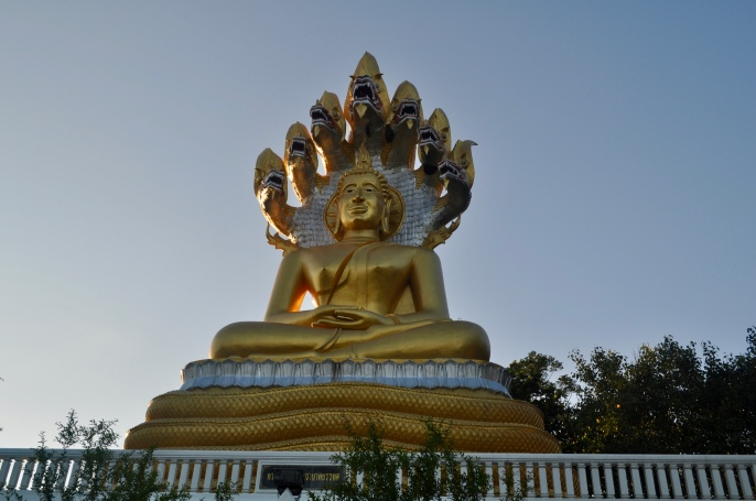 Buddha with seven-headed serpent