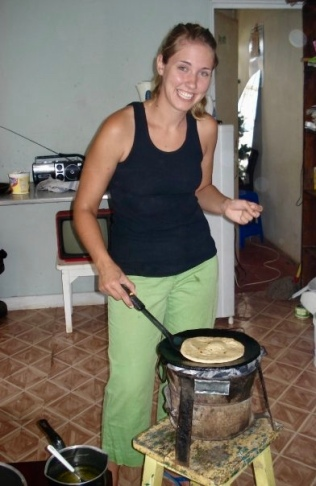 Making chapati