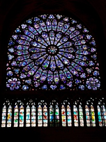Huge stained glass windows