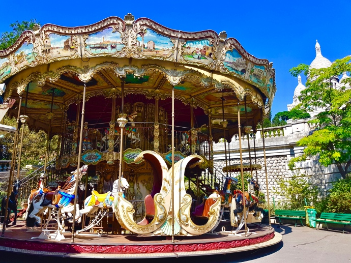 Beautiful carousel near Sacre-Couer