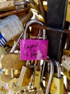 Adding our lock to 'Love Lock Bridge'